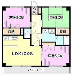 JUNラークマンション浅間[3階]の間取り
