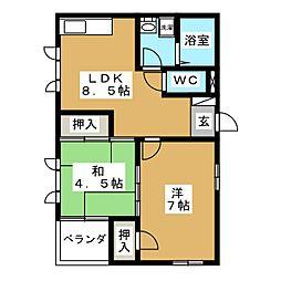 沢町ハイツ[1階]の間取り