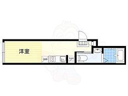 JR中央線 荻窪駅 徒歩10分の賃貸マンション 2階ワンルームの間取り