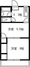 芳泉ビル[202号室]の間取り