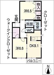 クレール C棟[2階]の間取り
