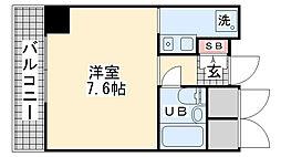 ライオンズマンション神戸西元町[706号室]の間取り