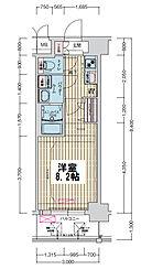 ララプレイス大阪ウエストゲート 6階1Kの間取り