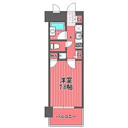 ライジングプレイス西横浜[4階]の間取り