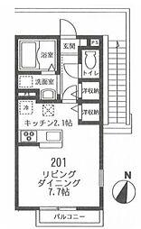 フィカーサ鎌倉[201号室]の間取り