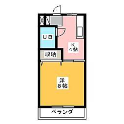 ココスI[3階]の間取り