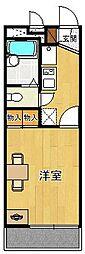 レオパレス甲子園CITY[201号室]の間取り