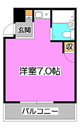 けやき通りマンション[2階]の間取り