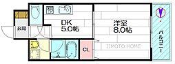 美清館[10階]の間取り