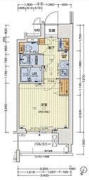 セオリー大阪BAYステージ 2階1Kの間取り