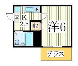 イーストフォーラムII[1階]の間取り
