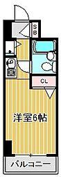 神奈川県川崎市中原区丸子通1の賃貸マンションの間取り