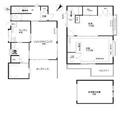 [一戸建] 東京都渋谷区本町5丁目 の賃貸【/】の間取り