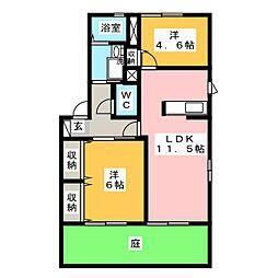グランメールS[1階]の間取り