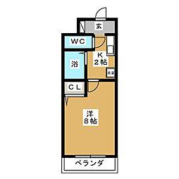 エスポワール神成[2階]の間取り