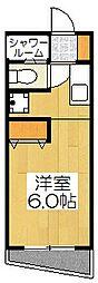シボラ六条高倉[3C号室]の間取り