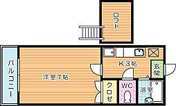 コンドミニアム医生ヶ丘III[1階]の間取り