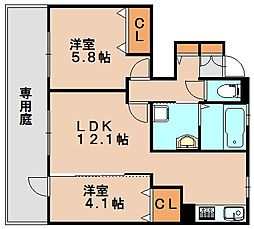 木犀館2[1階]の間取り