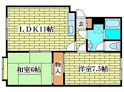 清田サンハイム1[3階]の間取り