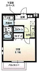 阪急宝塚本線 石橋阪大前駅 徒歩9分の賃貸アパート 2階1Kの間取り