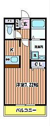 東京都立川市富士見町2丁目の賃貸アパートの間取り