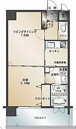 エンクレスト天神南Ⅱ[14階]の間取り