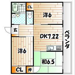 第2丸栄ビル[6階]の間取り