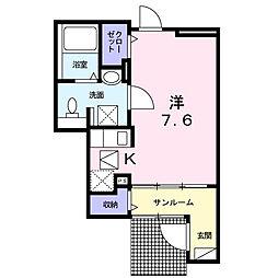 ラフィネ2[1階]の間取り