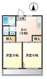 チェリーマンションI 12b[2階]の間取り