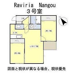 北海道札幌市白石区南郷通3丁目北の賃貸マンションの間取り