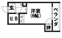 シャトージュネス田中[302号室]の間取り