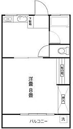 東京都杉並区浜田山2丁目の賃貸マンションの間取り