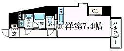 阪急神戸本線 王子公園駅 徒歩8分の賃貸マンション 4階ワンルームの間取り