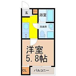 山田町三丁目アパート[3階]の間取り
