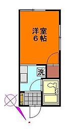 山崎ハイツ[202号室]の間取り