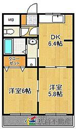 ピュアロイアルIII[1階]の間取り