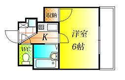 ハートフル藤井寺[2階]の間取り