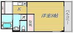 ヨシワガーデンII[1階]の間取り
