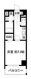 近鉄京都線 東寺駅 徒歩9分の賃貸マンション 5階1Kの間取り