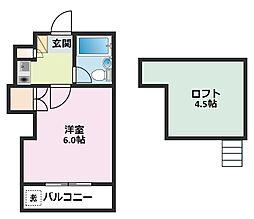 ブルーハイム駒岡[308号室]の間取り