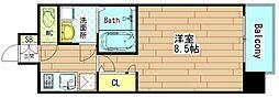 大阪府大阪市西区川口1丁目の賃貸マンションの間取り
