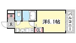 エステムコート神戸西2[502号室]の間取り