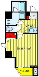 都営三田線 板橋本町駅 徒歩9分の賃貸マンション 2階1Kの間取り