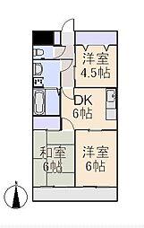 クレインマンション[2階]の間取り