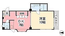 第2平田ビル[301号室]の間取り