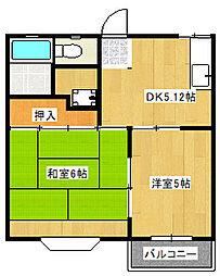 Dハイツ[2階]の間取り