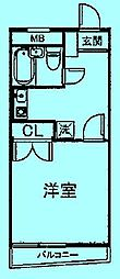 サンシティ中野島第二[2階]の間取り