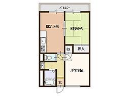 ニッコーハウス(NIKKO HOUSE)[2階]の間取り