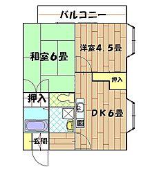 長島ビル[304号室]の間取り