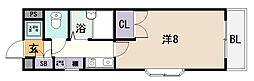 小阪パームコート[3階]の間取り